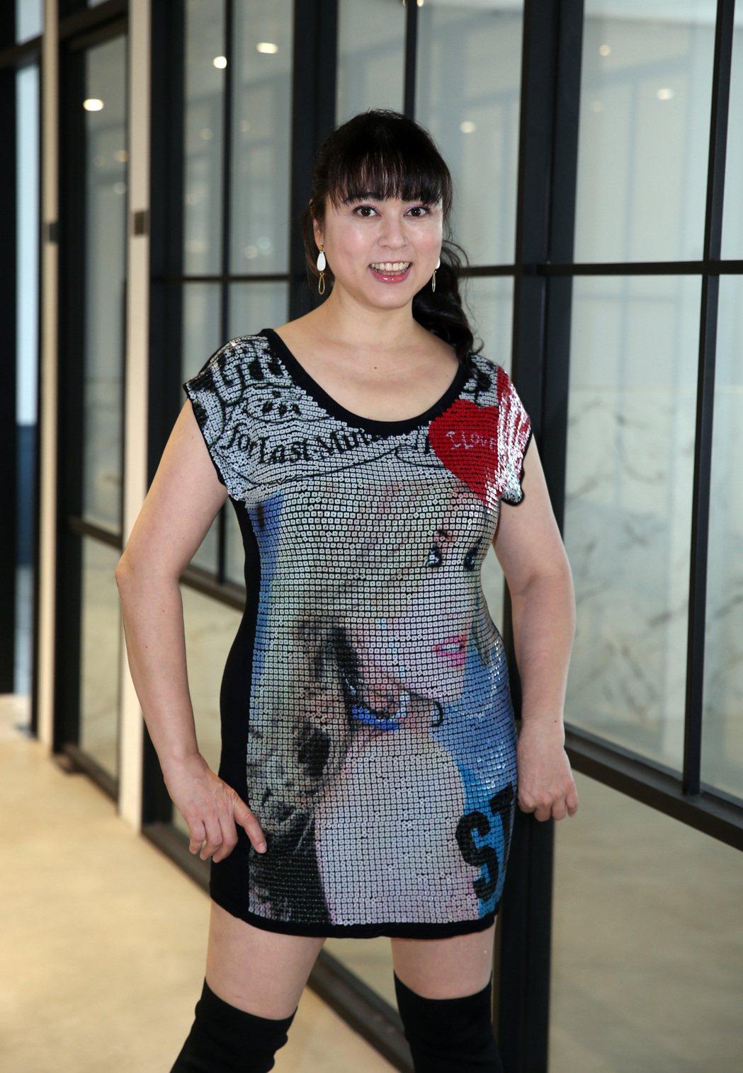 任潔玲瘦了10公斤還是豐腴,那是因為她之前胖到83公斤。記者陳吉松/攝影