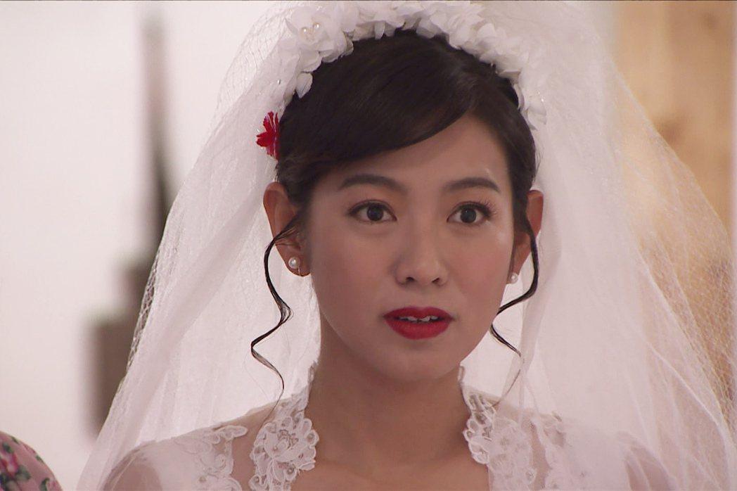 米可白在「生生世世」中二度披婚紗。圖/台視提供