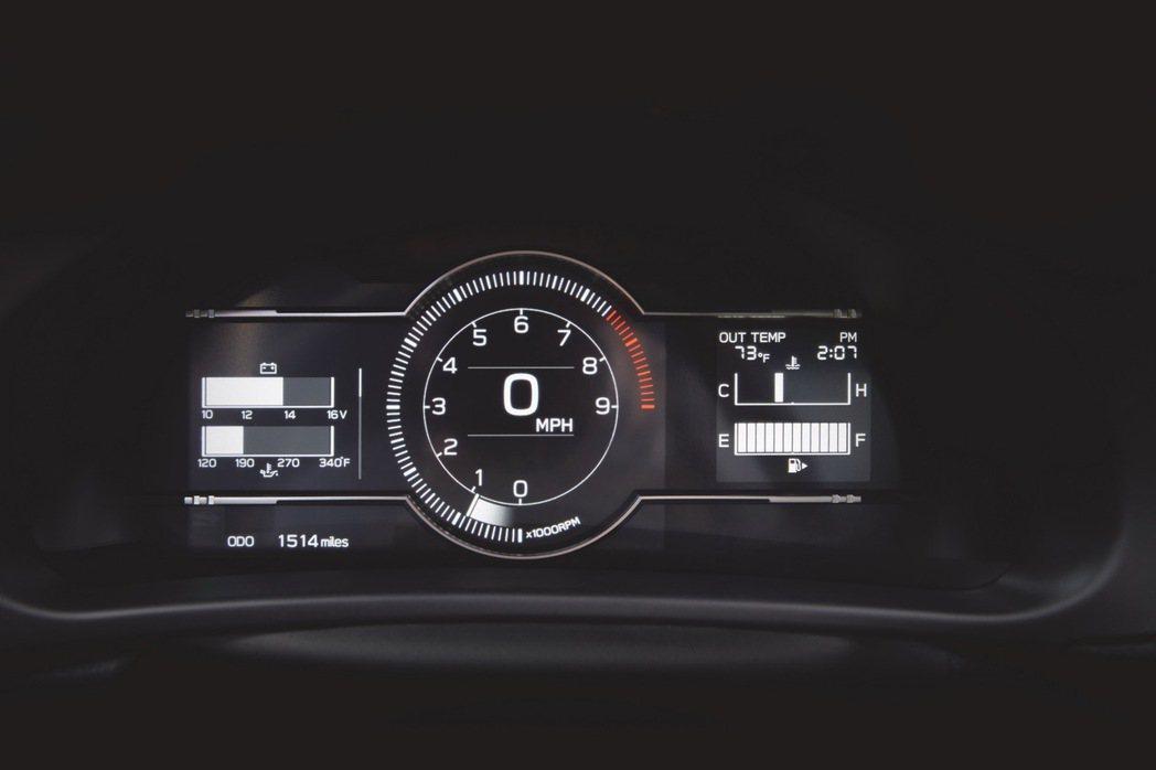 一般模式下的數位儀表。 圖/Subaru提供