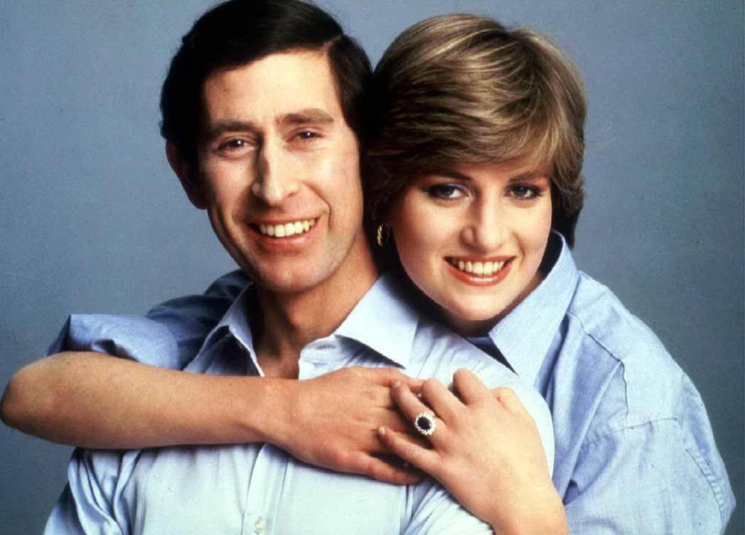 1981年兩人訂婚。 圖/路透社