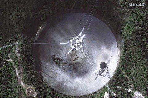從高空俯瞰阿雷西博天文台。 圖/路透社