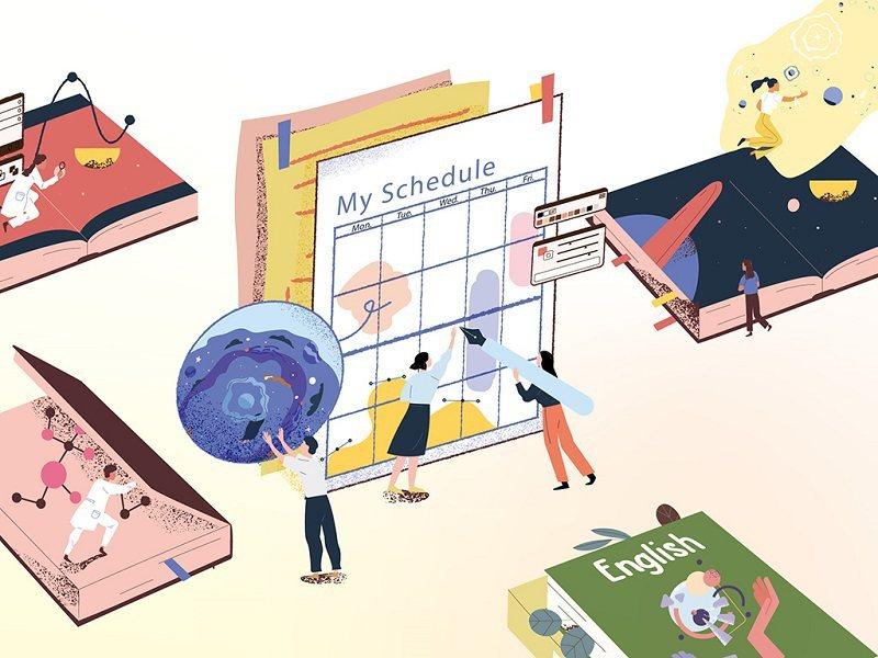 探索志願方向、養成自主學習,多元選修打造個人課表。(圖/English OK)