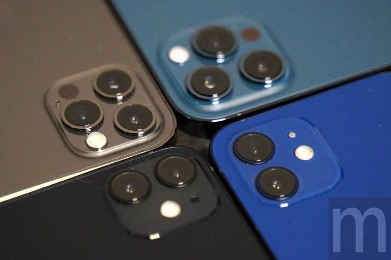 ▲此次推出的iPhone 12系列機種,iPhone 12與iPhone 12 mini均採用相同相機設計,而iPhone 12 Pro則是在iPhone 12相機設計基礎上,額外增加一組2倍光學長焦鏡頭,至於iPhone 12 Pro Max則是與iPhone 12 Pro在廣角鏡頭感光源件,以及長焦鏡頭規格上有所差異,但兩者均支援Dolby Vision HDR錄影與ProRAW檔案格式