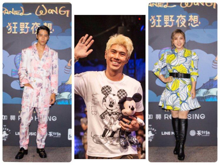 胡宇威、李佳薇都是Daniel Wong大秀嘉賓。圖/Daniel Wong提供