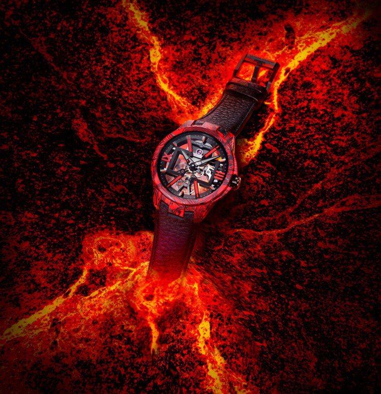 如熔岩般的強烈視覺,一如Ulysse Nardin 經理人鏤空X腕表散發的強烈意...
