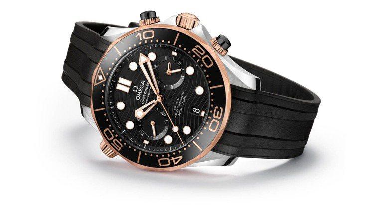 OMEGA,海馬潛水300米計時腕錶系列,價格店洽。圖 / OMEGA提供。