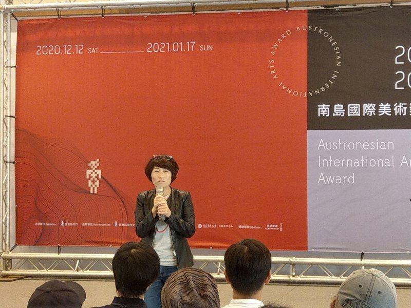 「2020南島國際美術獎」今天於台東美術館啟動,縣長饒慶鈴主持,她相信藝術家在1個月後的展覽能帶來豐富的視覺饗宴。記者尤聰光/攝影