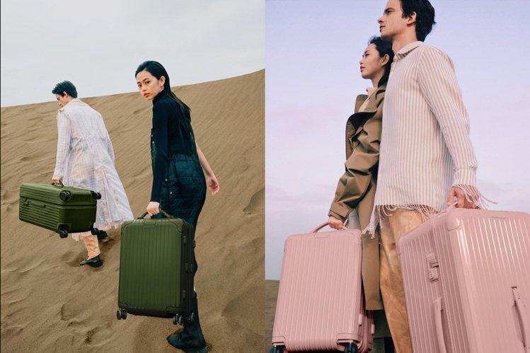 Essential系列霧粉、墨綠的視覺形象廣告,由台灣攝影師Manbo Key操...