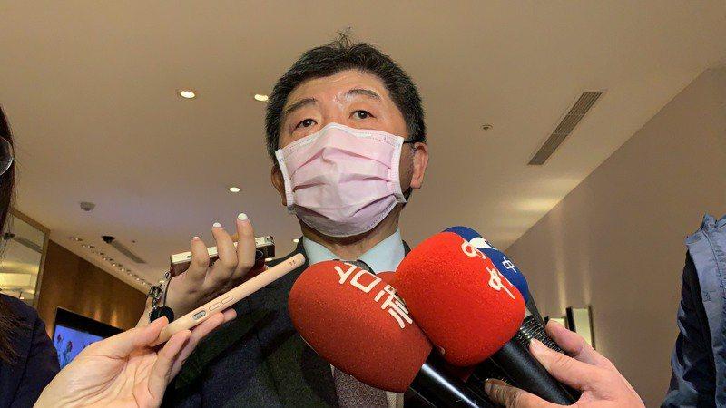 中央流行疫情指揮中心指揮官陳時中今天晚間出席活動,表示台灣已經買到新冠肺炎疫苗,只差付訂金。記者陳雨鑫/攝影
