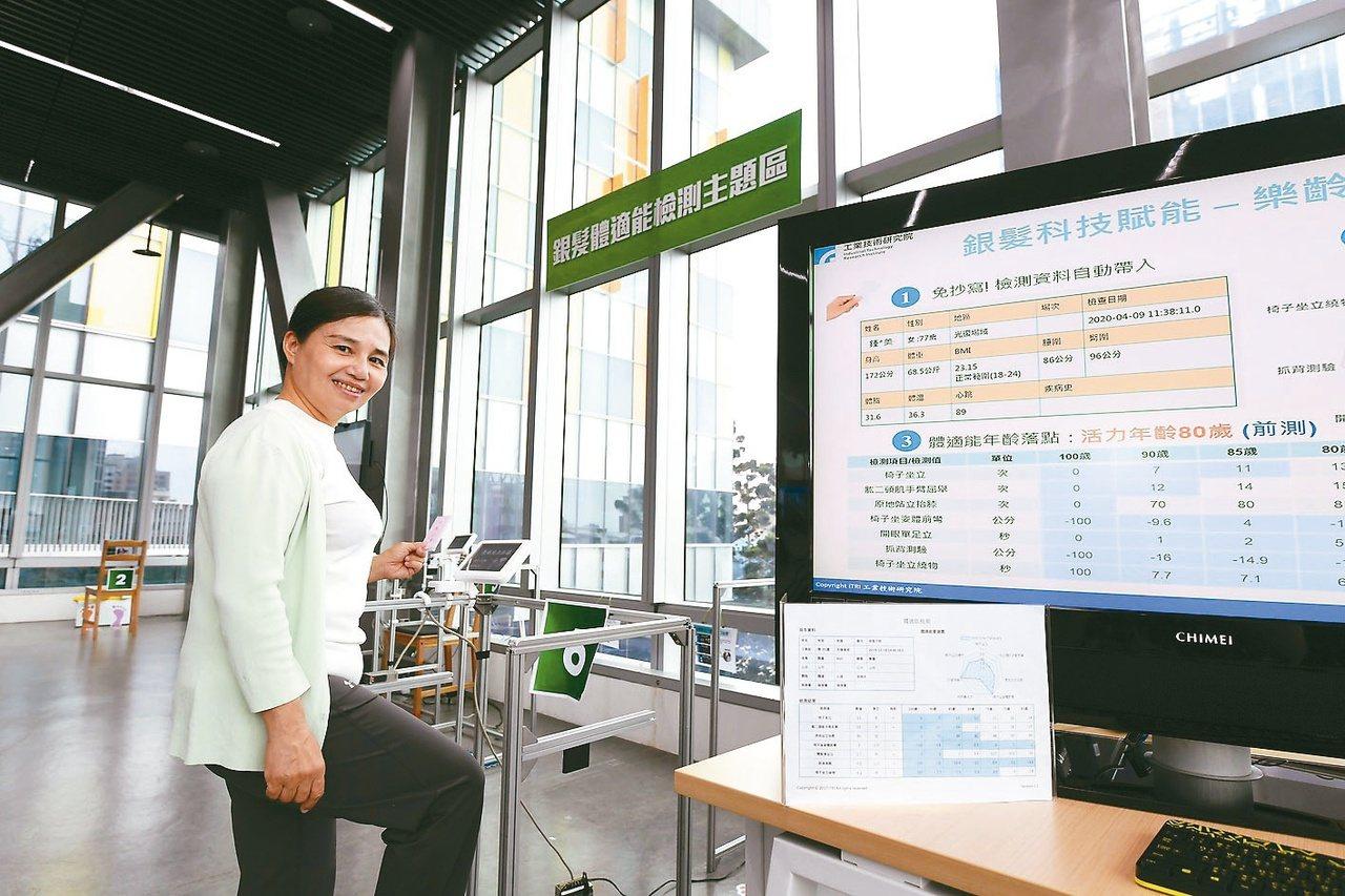 台灣即將邁入超高齡社會,科技照護打入銀髮族市場,協助長者生活及照護。圖/工研院提...