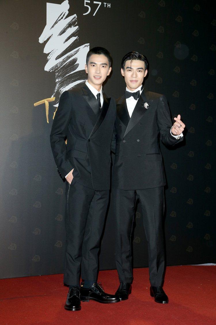 第57屆金馬頒獎典禮,曾敬驊(左)與陳昊森(右)走星光大道。記者陳立凱/攝影