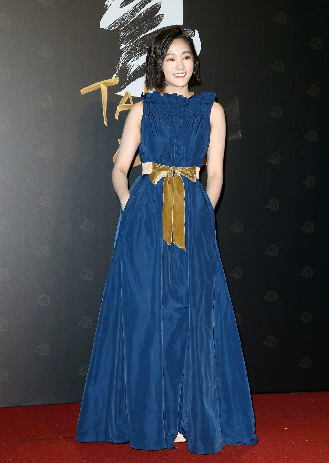第57屆金馬頒獎典禮,王淨走星光大道。記者陳立凱/攝影