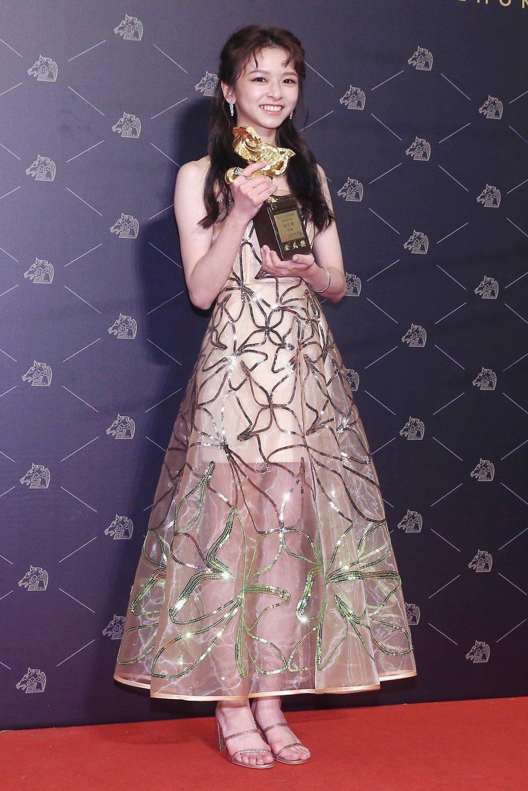 第57屆金馬獎頒獎典禮在國父紀念館舉行,最佳新演員由《無聲》陳姸霏獲得。記者林伯...