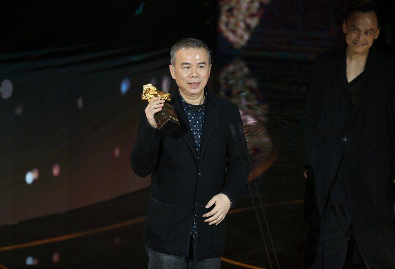 第57屆金馬獎頒獎典禮在國父紀念館舉行,陳玉勳以《消失的情人節》獲頒最佳導演。記者季相儒/攝影