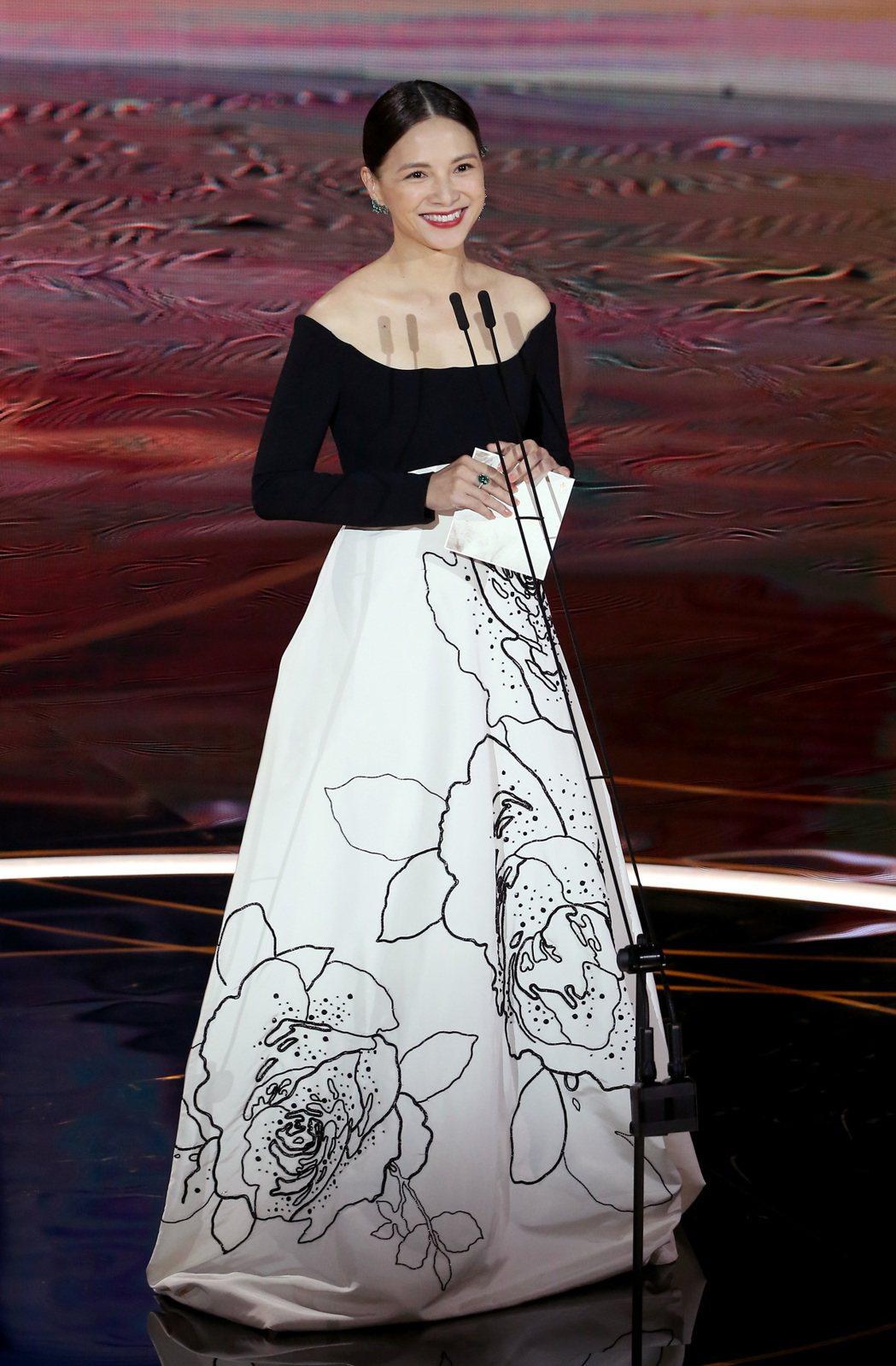 第57屆金馬獎頒獎典禮在國父紀念館舉行,李心潔擔任頒獎人。記者季相儒/攝影