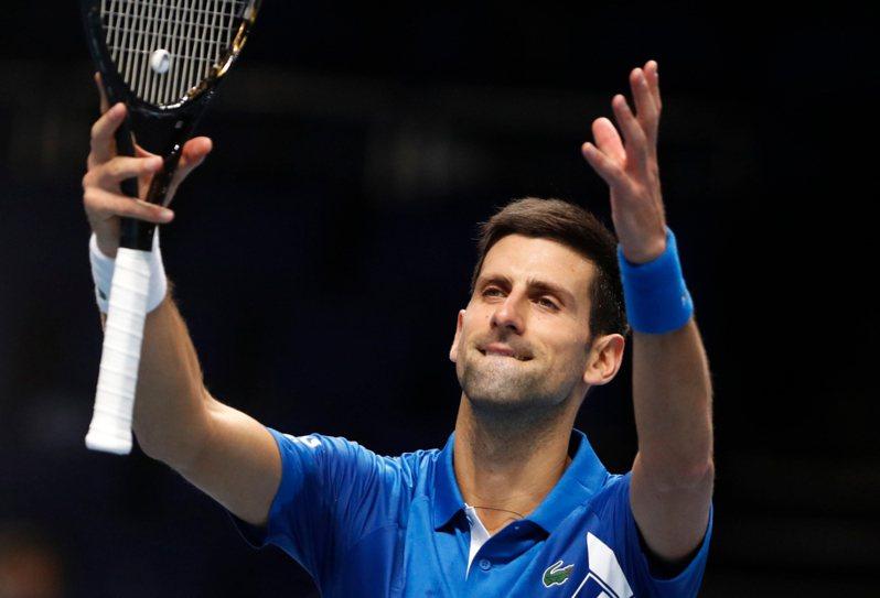 喬科維奇挺進ATP世界巡迴年終賽(ATP Finals)前4強。 美聯社