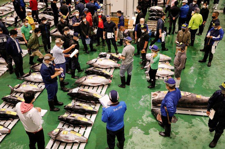 日本東京疫情慘重,號稱「世界最大鮪魚市場」的豐洲市場累計確診人數達114人。路透