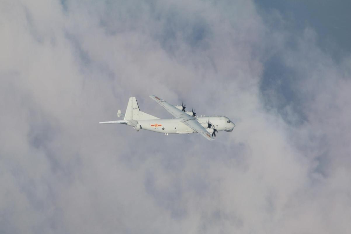 美艦今年第11度通過台灣海峽 2架共機運8機持續擾台