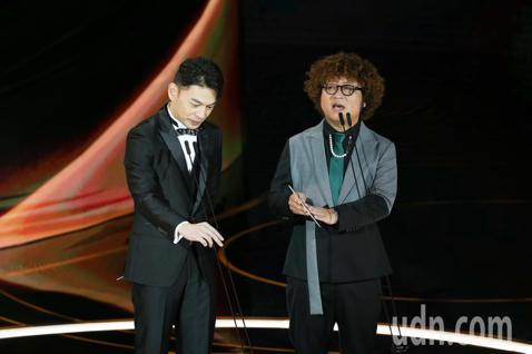 第57屆金馬獎頒獎典禮在國父紀念館舉行,納豆與林暐恆擔任頒獎人。