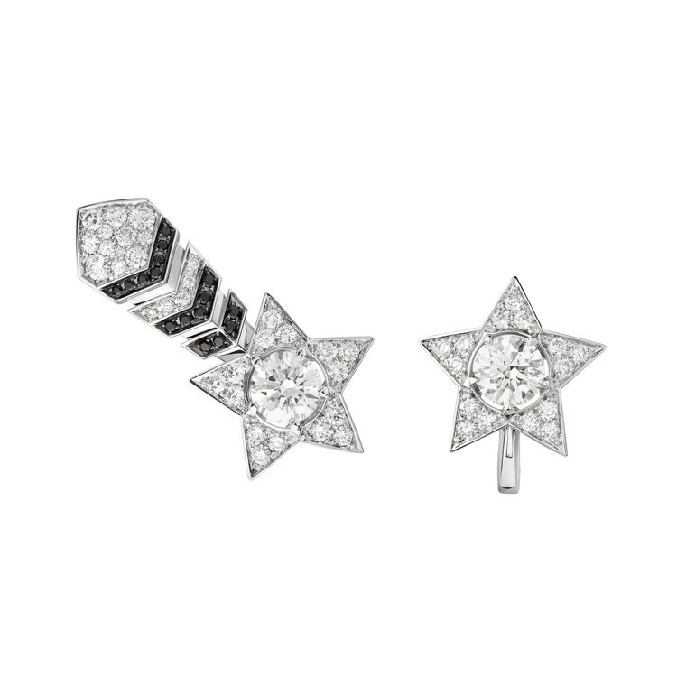 Comète 耳環,建議售價1,393,000元。圖/香奈兒提供