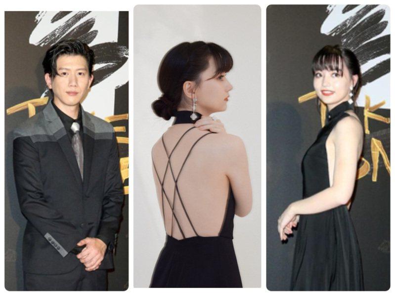 影帝莫子儀和黑嘉嘉在金馬紅毯都選穿APUJAN服裝。圖/記者陳立凱攝影、APUJAN提供