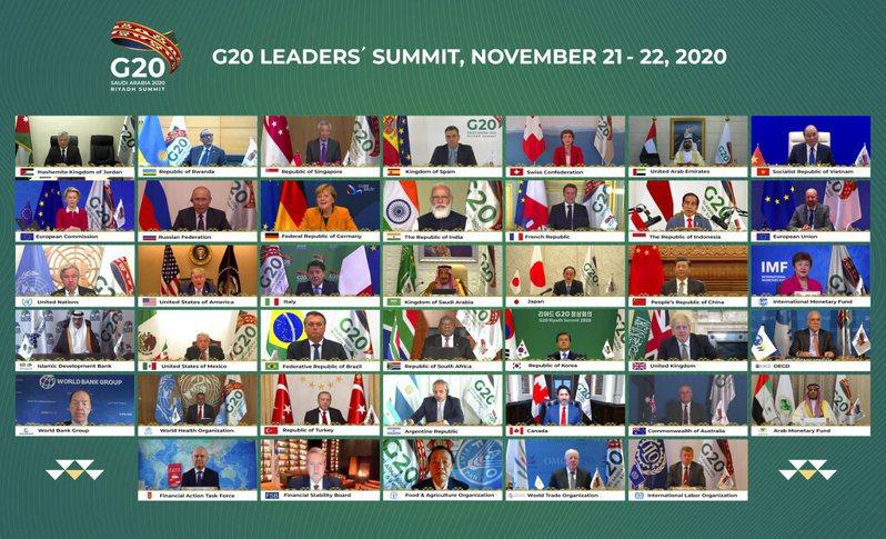 法新社報導,美國總統川普今天在20國集團(G20)線上高峰會議短暫現身後,就去打高爾夫了。美聯社