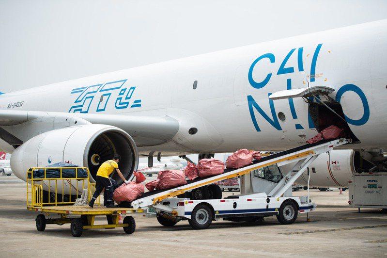 菜鳥網絡貨運航機。  新華社資料照