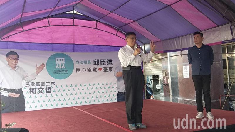 針對蔣介石銅像拆除議題,柯文哲說:「小英(蔡英文總統)有本事把軍中銅像拆,台北市就拆」。記者尤聰光/攝影