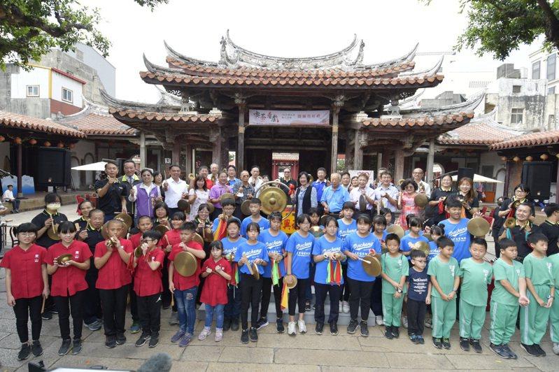 彰化南北管音樂戲曲教育扎根,2020南北管秋之饗宴參與學校成長約二倍。記者林敬家/攝影