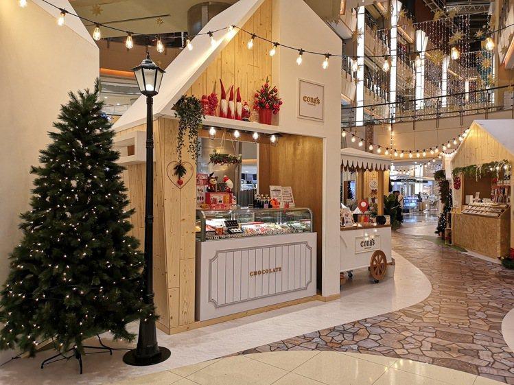 大江購物中心打造五大主題的「501號聖誕市集」。圖/大江購物中心提供