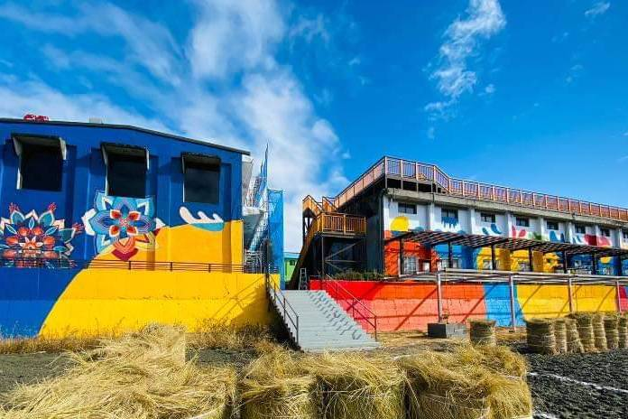 台東關山鎮農會「米國學校」 彩色外觀令人驚豔