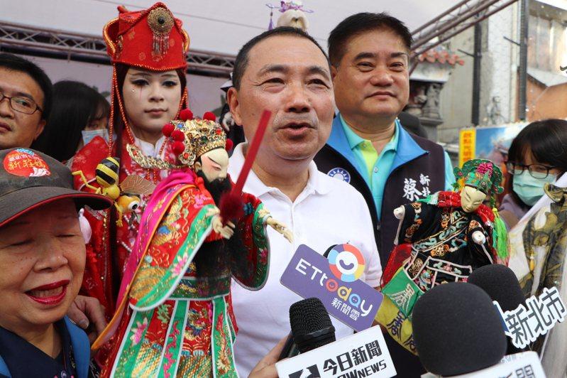 新北市長侯友宜出席偶戲文化日活動。記者吳亮賢/攝影