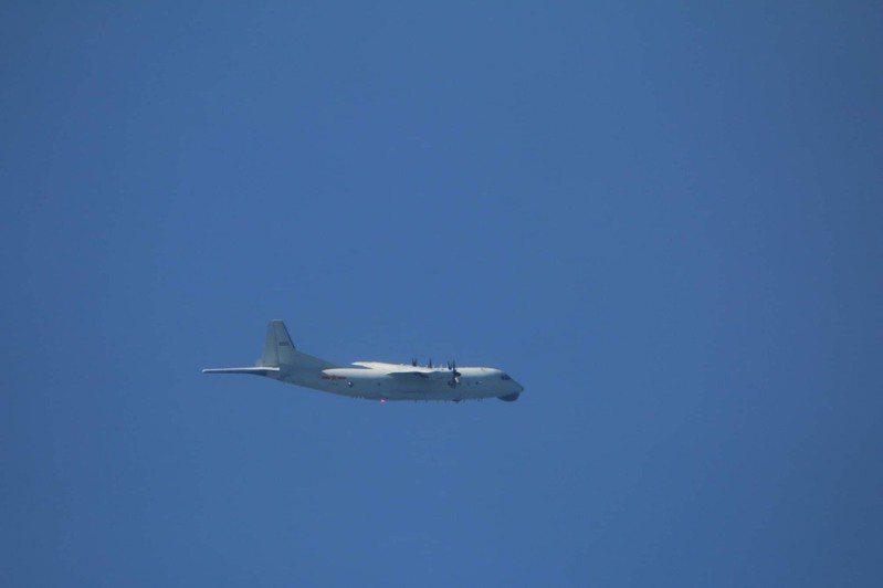 國防部今公布中共解放軍進入我西南空域活動情況,一架運-8反潛機今天進入我西南防空識別區。圖為同型機照。圖/國防部