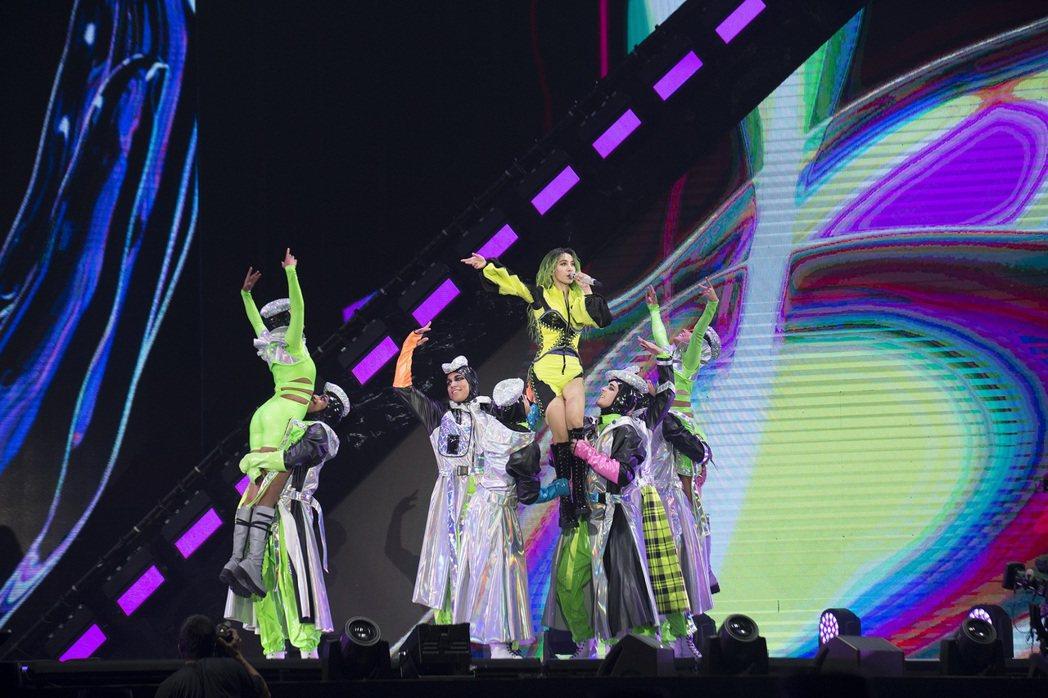 蔡依林的「Ugly Beauty」世界巡演高雄站進入第3天。圖/凌時差提供