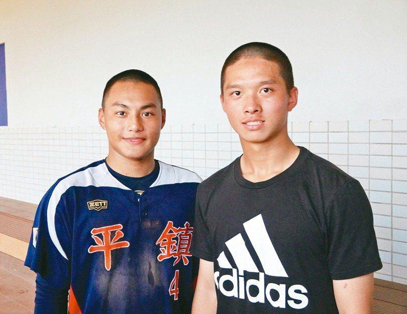平鎮高中今年二、游搭檔黃勇傳(左)、曾子祐。記者蘇志畬/攝影