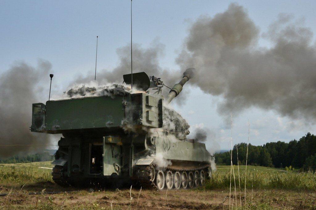M109A6自走砲。 圖/美國陸軍