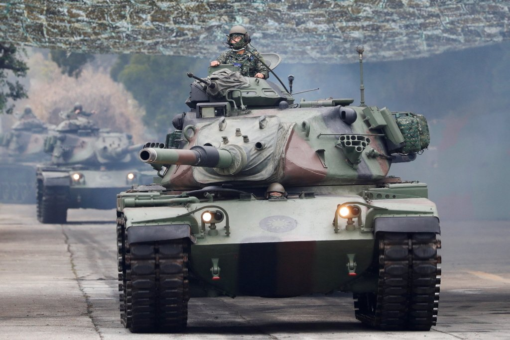 M60A3 TTS戰車。 圖/路透社