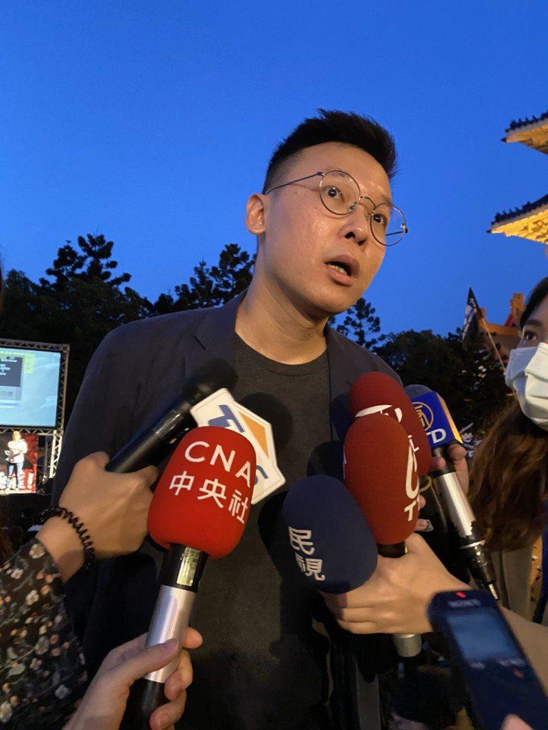 民進黨副秘書長林飛帆。聯合報資料照片
