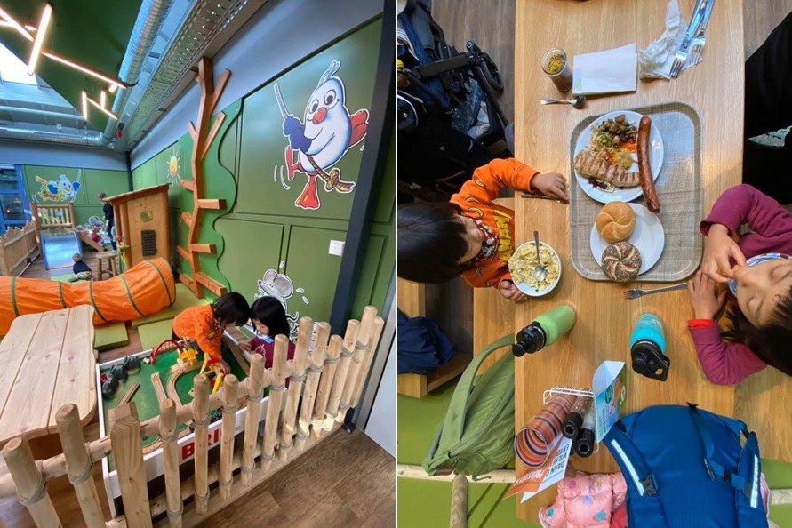 園區附設餐廳的食材都是使用「有機」食材。 圖/作者提供