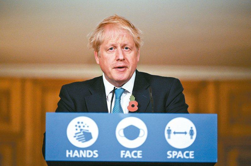 英國首相強生。(路透)