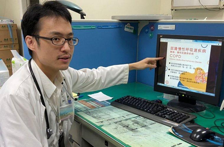 台中榮中嘉義分院胸腔內科醫師戴士昕表示,及早遠離菸害,才是維護健康不二法門。圖/...