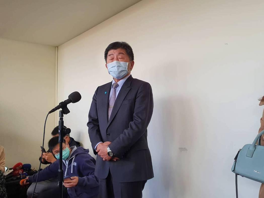 指揮官陳時中則表示,留學生若有症狀現在可以回台。記者楊雅棠/攝影