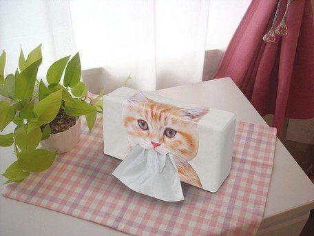 台隆手創館獨家貓臉面紙盒套,售價490元。圖/台隆手創館提供
