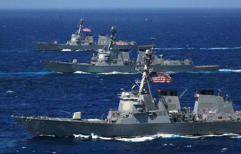 美國海軍部長稱要新組建一支艦隊對抗中國大陸崛起的海軍,圖為美國海軍艦隊。圖/取自美海軍官網