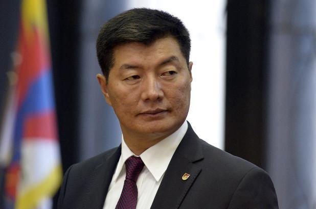 西藏流亡政府領導人洛桑孫根(藏語: བློ་བཟང་སེང་གེ་)20日正式訪問白宮。(取自觀察者網)