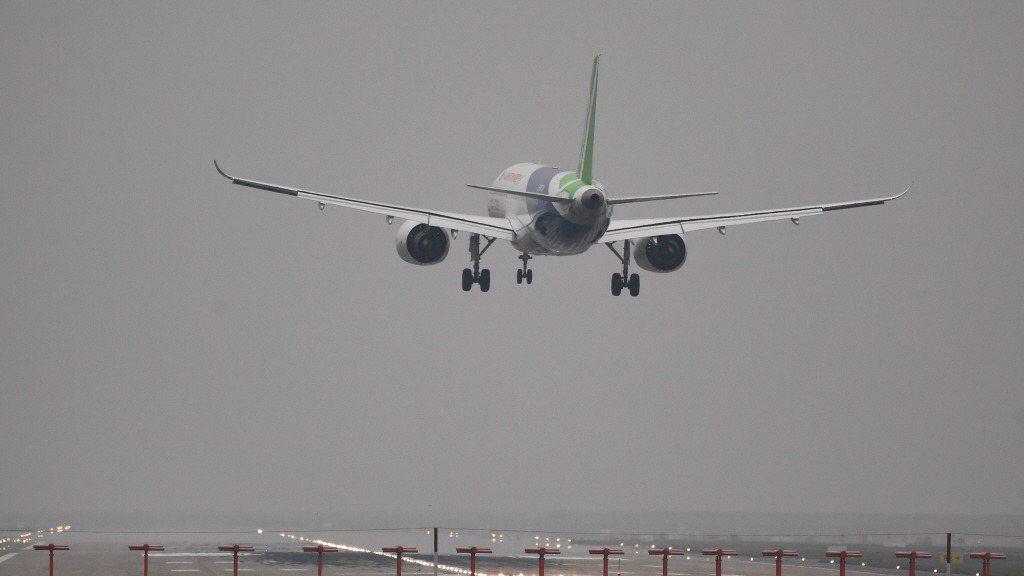 中國商飛的C919客機。路透