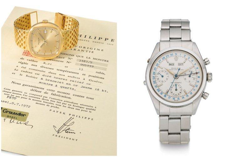 佳士得史上估價最高的線上鐘表專場「Rare Watches New York:O...