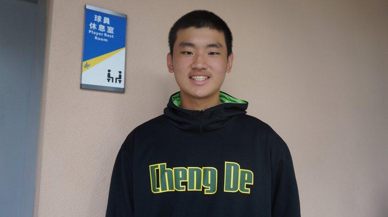 成德高中王苡丞,被隊友稱為「成德大王」。記者陳宛晶/攝影
