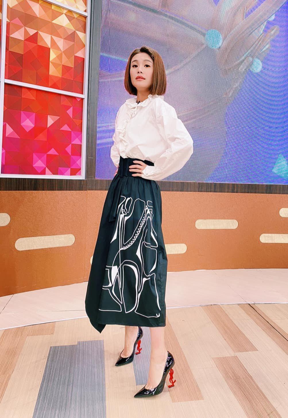 朱海君日前上衛視「一袋女王」。圖/摘自臉書