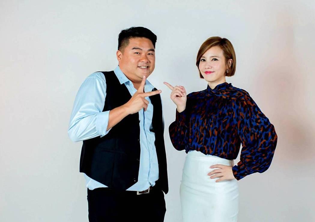 呂捷和王偊菁將挑戰談話性節目。圖/三立提供